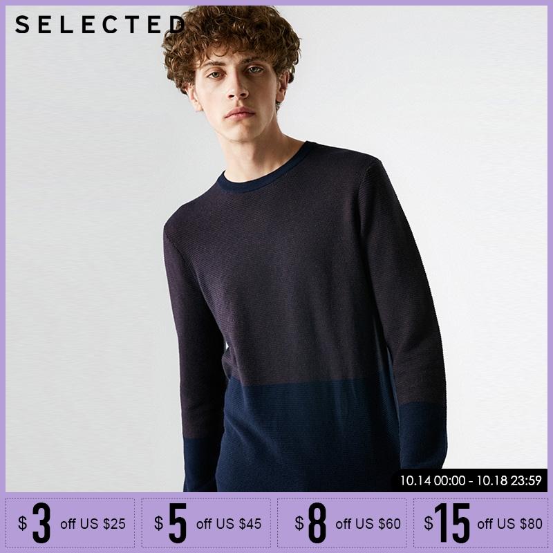 SELETED Mens 7% Cashmere Round Neckline Assorted Colors Knitted Sweater    418324530