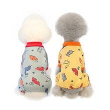 Хлопковая пижама с принтом в виде щенка кошки летняя одежда