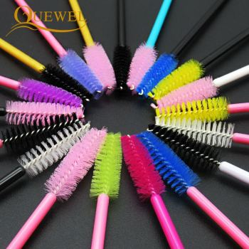50 PCS Disposable Eyelash Brushes Mascara Wands Eye Lash Eyelashes Extension Eyebrow Applicator Cosmetic Makeup Brush Tool Kits