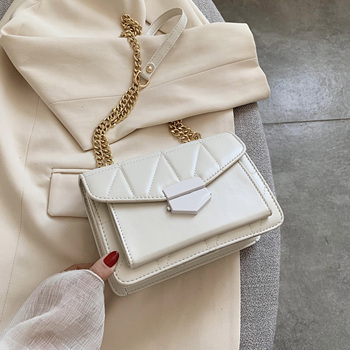 Chain Small PU Leather Flap Bags For Women 2020 Elegant Solid Color Crossbody Shoulder Handbags Travel Cross Body Bag Totes