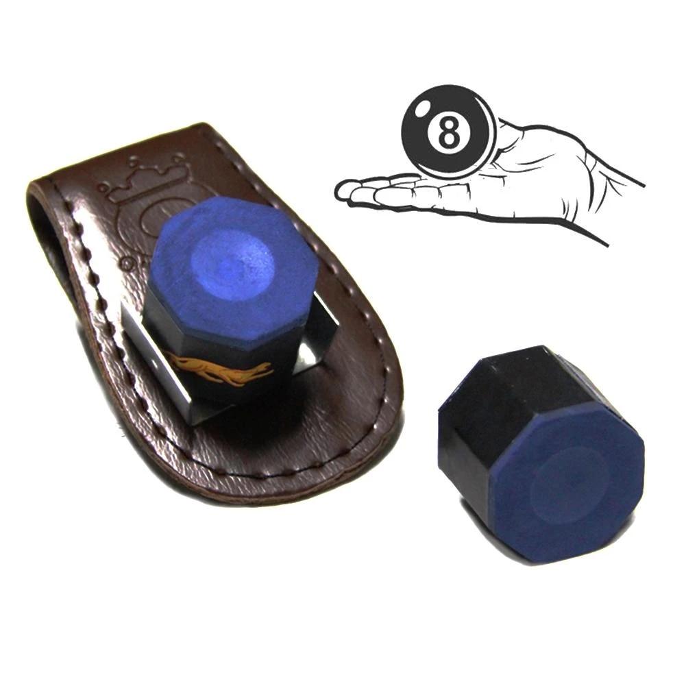 Pool Billiards Snooker Accessories Leather Magnetic Belt Clip Chalk Holder
