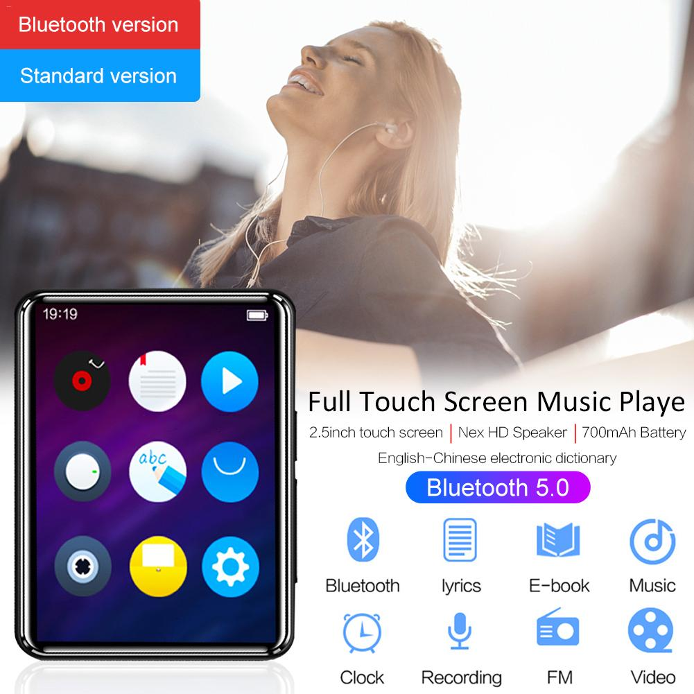 Bluetooth 5.0 MP4/MP3 Music Video Player, 2.5 Touch Screen FM Radio E-book Player With Speaker, 8GB/16GB 700mAh Support TF Card image
