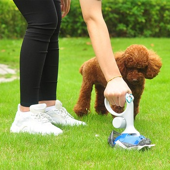 Toaleta dla psów torba dla psa biodegradowalne torebki na odchody zwierzęce 2 w 1 uchwyt wygodny pies Pooper Bag dozownik Scoop Shovel urządzenia do oczyszczania torba rollbag tanie i dobre opinie Pooper Scoopers i Torby CN (pochodzenie) 25 5*12 5cm suit for pets poop as picture Dispenser 25 5*12 5cm Trash Bag 26*31cm