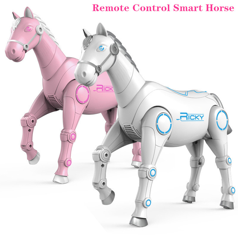 RC Smart Robot interactive Remote Control Horse intelligent Dialogue Singing Dancing Animal Toys Children Educational toys Gift image