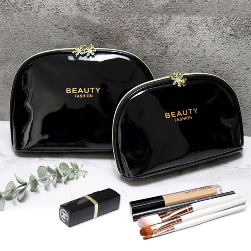 Women Waterproof  Makeup Cosmetic Case Solid Color Pen Pencil Bag Zipper Coin Pouch Purse Lipstick Cellphone Storage Gift