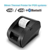 POS termal yazıcı için Mini 58mm USB POS makbuz yazıcısı için restoran süpermarket mağaza fatura kontrol makinesi ab abd Plug
