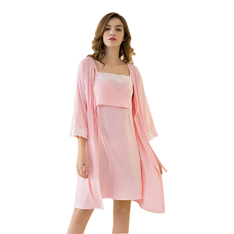 Maternity-Nursing-Dress Sleepwear Breastfeeding Nightgown Nursing-Pregnant-Pajamas Elegant