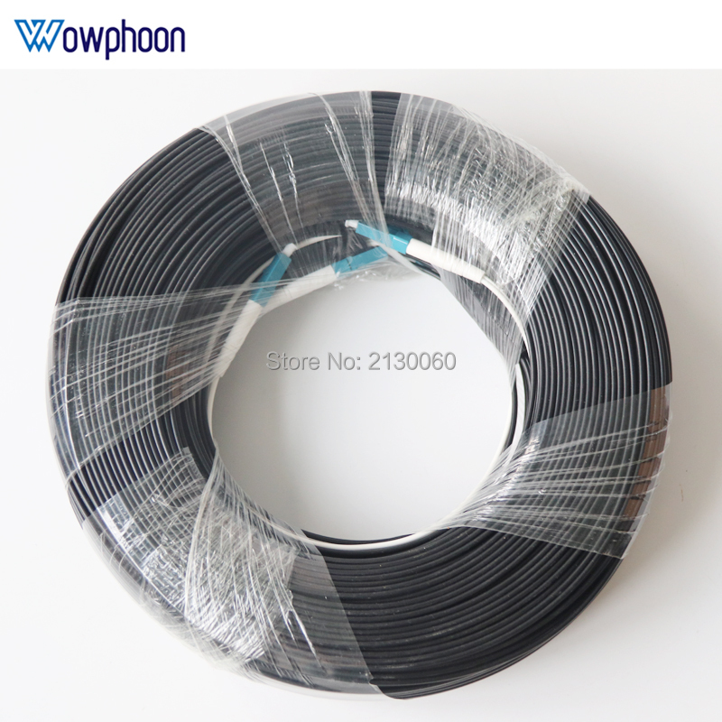 Best Price 150M Outdoor LC UPC Duplex FTTH Drop Patch Cable LC Duplex G657A Fiber Optic Patch Cord FTTH Fiber Optic Jumper Cable