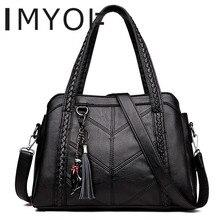 トップの女性のタッセルバッグ高級ユキヤナギ女性ショルダーメッセンジャーバッグデザイナー高品質革ハンドバッグかわいい猫