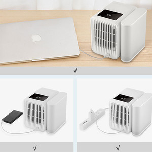 Image 4 - Youpin 1000Ml Capaciteit Mini Usb poort Draagbare Airconditioner Touch Screen 99 Speed Aanpassing Energiebesparende Ventilator Koeling