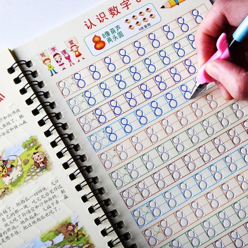 Kindergarten 0-10 Digital Number Calligraphy Groove Copybook For Kid Children Exercises Calligraphy Practice Book Libros