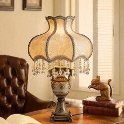 Miejscowości księżniczka lampa stołowa do salonu amerykańska wiejskich Hollow Retro w stylu śródziemnomorskim sypialnia lampki nocne ściemniania doprowadziły lampa sufitowa