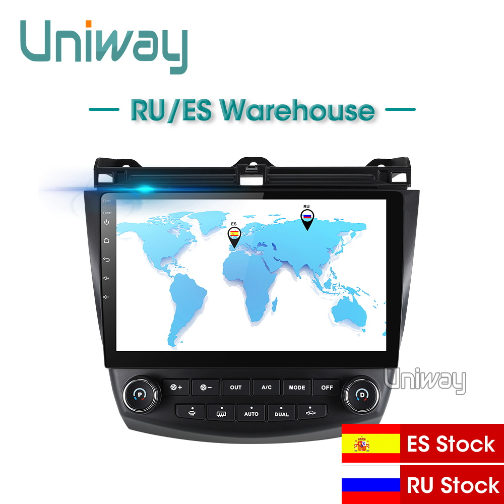 Uniway AYG1071 2G+32G <font><b>android</b></font> 8.1 car dvd for <font><b>Honda</b></font> <font><b>Accord</b></font> 7 2003 <font><b>2004</b></font> 2005 2006 2007 car <font><b>radio</b></font> video player gps navigation car image