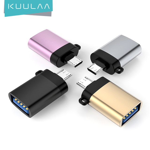 KUULAA OTG Adapter Micro USB To USB 3.0 Male to Female Converters Cables For Samsung Xiaomi Huawei LG Sony OTG Micro USB Adapter