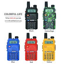 Baofeng UV 5R Walkie Talkie Professional CB สถานีวิทยุ Baofeng UV5R Transceiver 5W VHF UHF แบบพกพา UV 5R การล่าสัตว์ HAM วิทยุ