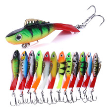 YUZI 1PCS Winter Ice Fishing Lure 65mm 3D Eyes Colorful lead Bait Soft for lake River