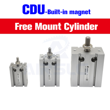 цена на SMC Type Free Mount Cylinder Double Acting Built-in magnet bore 6 10 16 20 25 32mm Stroke 5-60mm CDU6 CDU10 CDU16 CDU20 CDU25-20