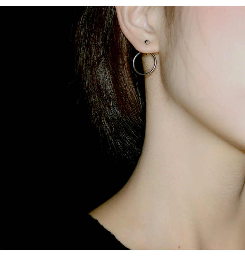 אופנה פשוט Wild סגסוגת שעועית שעועית עגילי תליית קטן טבעת גברים ונשים אוזן תכשיטי זהב וכסף שני- צבע מודלים פרא