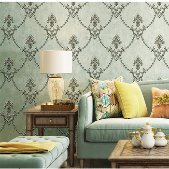 цена на American High Quality European Small Flower Wall Paper Luxury Non-woven Living Room Bedroom TV Background Wall Wallpaper Home