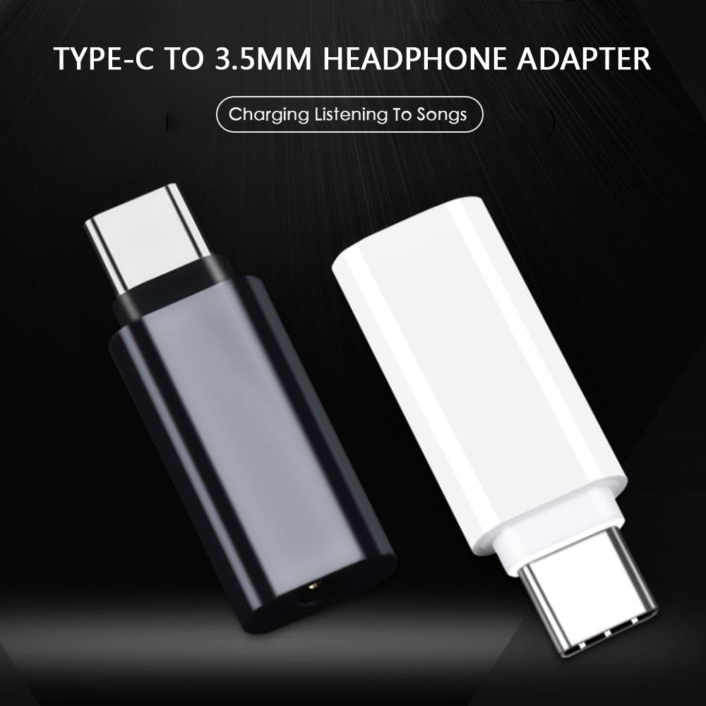 1PCS Mobile Phone Adapter Type C To 3.5MM Audio Adapter Microusb Connector For Huawei Xiaomi Samsung Galaxy  Adapter USB Type C