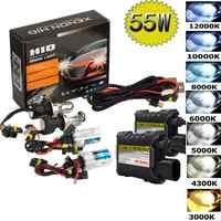 55W Xenon Hid Kit H1 H3 H4 H8 H7 H11 9005 9006 880/1 H13 Car Headlight Lamp Source Headlamp 3000K 4300k 6000k 8000k 12000K Bulbs