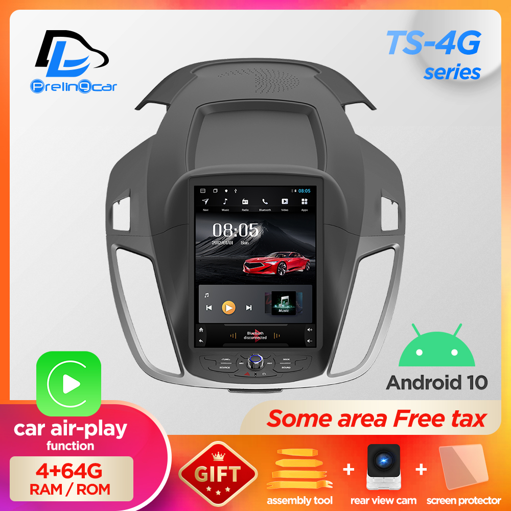 4G Lte 32G ROM Vertical android 10 0 system multimedia video radio player for ford escape kuga 2012-2019 C-MAX navigation stereo