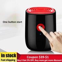 800ml desumidificador de ar elétrico para casa 25 w mini desumidificador doméstico portátil dispositivo limpeza secador ar umidade absorvente|Desumidificadores| |  -
