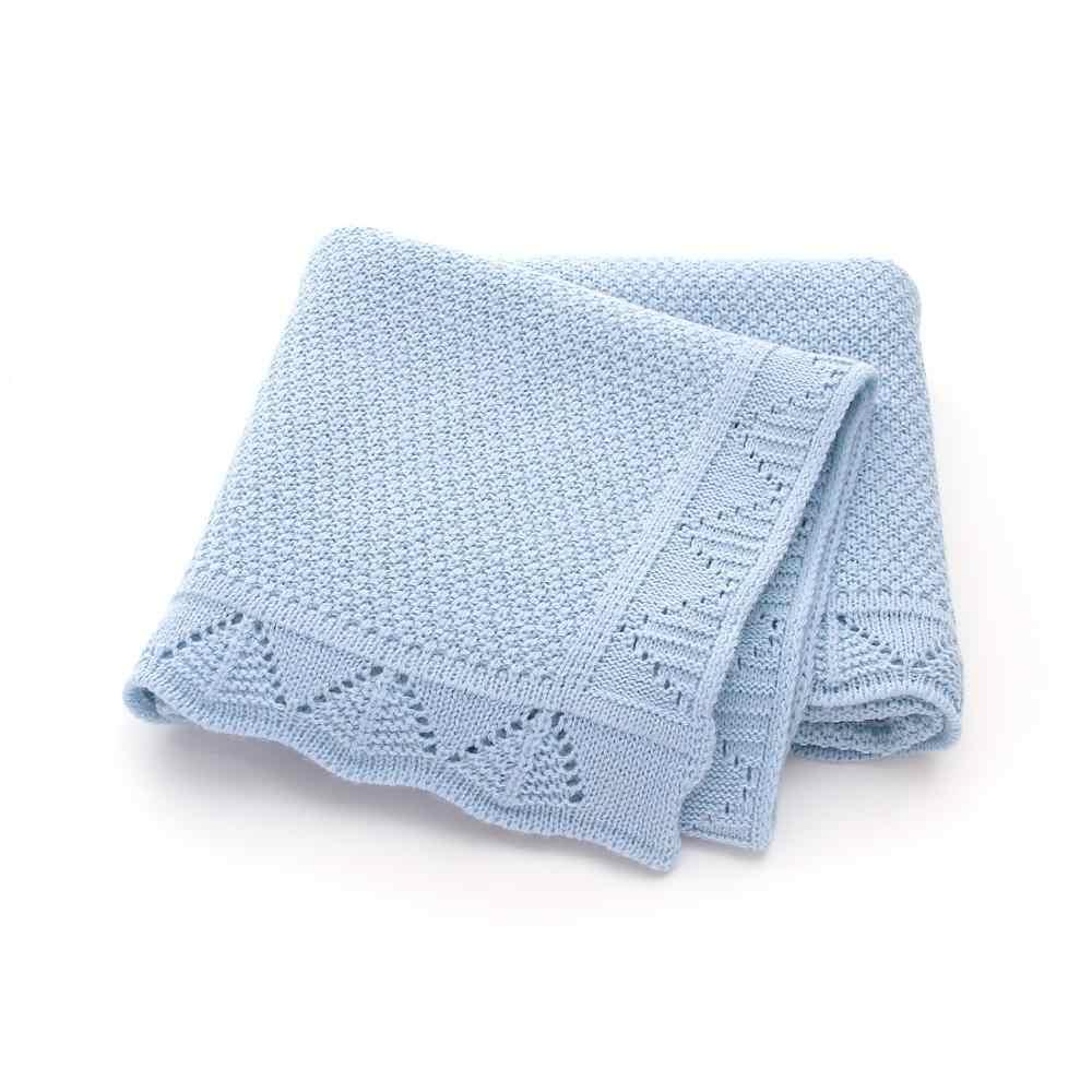 Mantas de bebé de punto recién nacido Swaddle manta de moda sólido carrito de niño ropa de cama edredón de sofá 100*80cm Infante Kids Sleep Cover