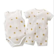 Summer Baby Romper For Newborn Lemon Cotton Super Soft Baby Girls Onesie Toddler Boys Jumpsuit Sleepwear Baby Clothes Overalls