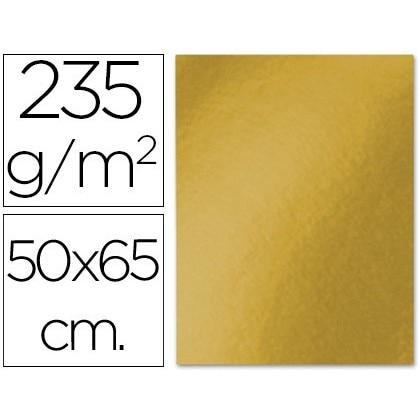 CARDBOARD LIDERPAPEL 50X65 CM 235G/M2 METALLIC GOLD 10 Units