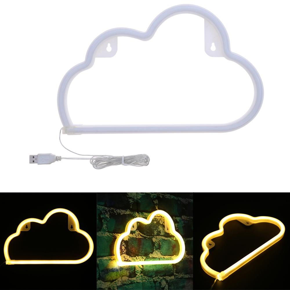 USB Charging Neon Moon Lamps Holiday Light Cactus/Moon/Cloud LED Lamp For Home Festival Party Christmas Decor