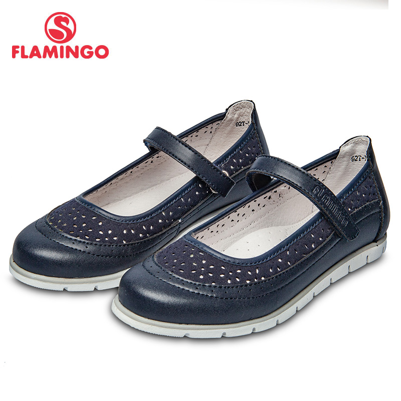 School shoes Flamingo 92T-XY-1463 shoes for girls leather insole shoes for children 31-36 # flamingo new children shoes spring