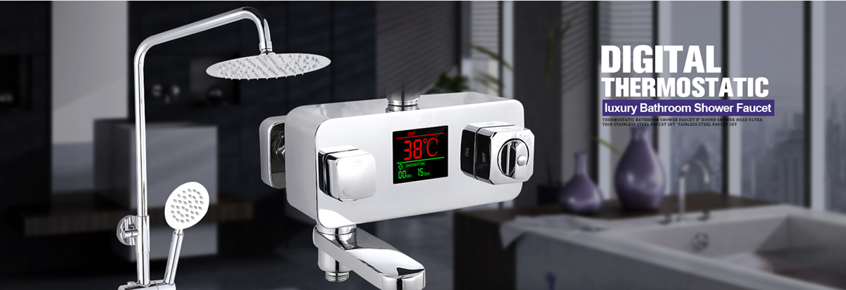 H1f66073a337c4a0fa4ef88605f695a35t Hot and Cold Digital Shower Set Faucet Bathroom Shower System Black Gold Shower Faucet Square Shower Head Bath Shower System