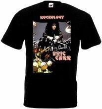 Camiseta eric carr-rockology preto poster todos os tamanhos s... 5xl