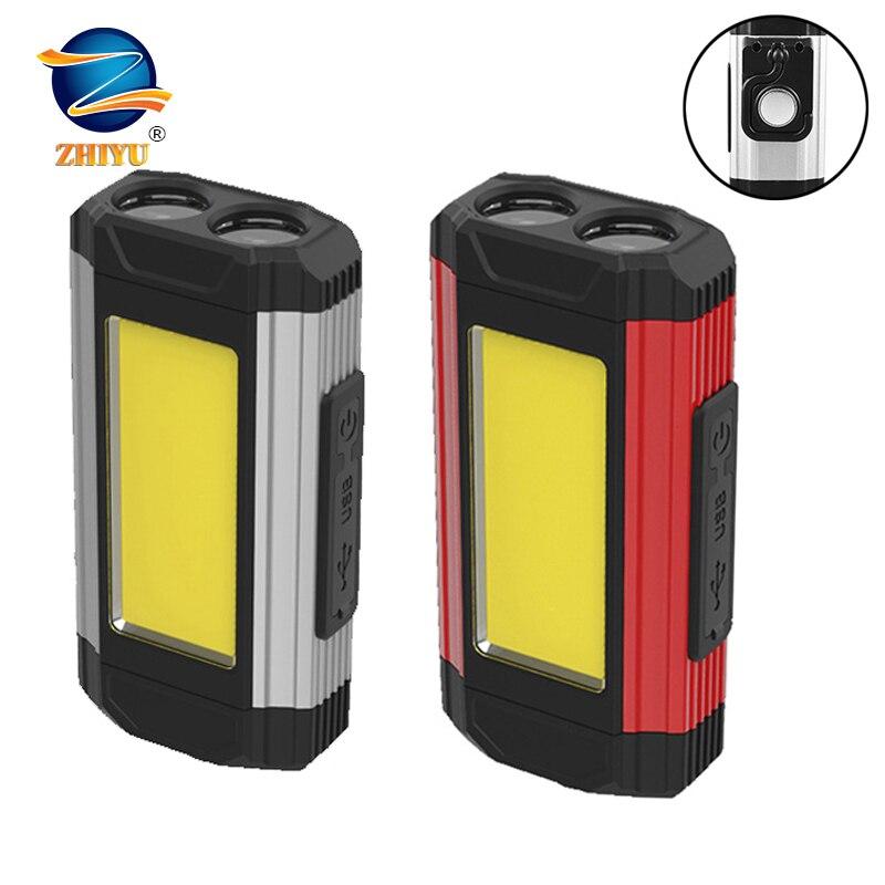 COB светодиодный рабочий светильник USB с магнитными разъемами для Перезаряжаемые светодиодный вспышка светильник супер яркий Портативный п...