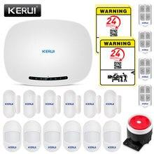 KERUI W19 אלחוטי אנדרואיד IOS APP מרחוק בקרת אבטחת בית אזעקה מערכת GSM מחסן אזעקה ערכות עם מיני חיישן