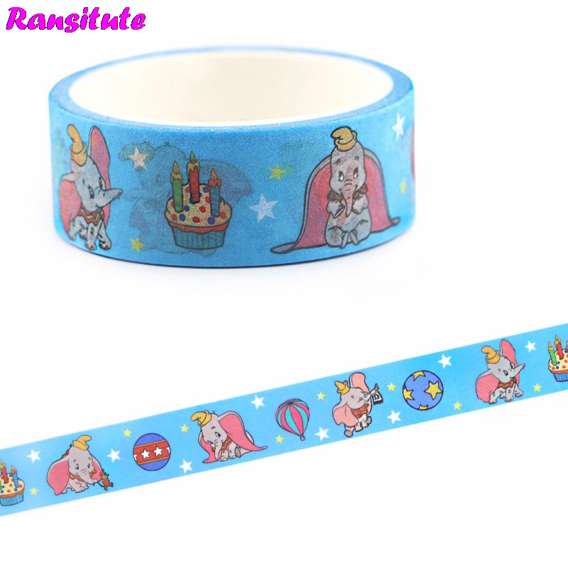 Ransitute Dumbo Washi Tape Lace Masking Tape DIY Album Decorative Tape Fashion Stationery Scrapbooking Paper R670