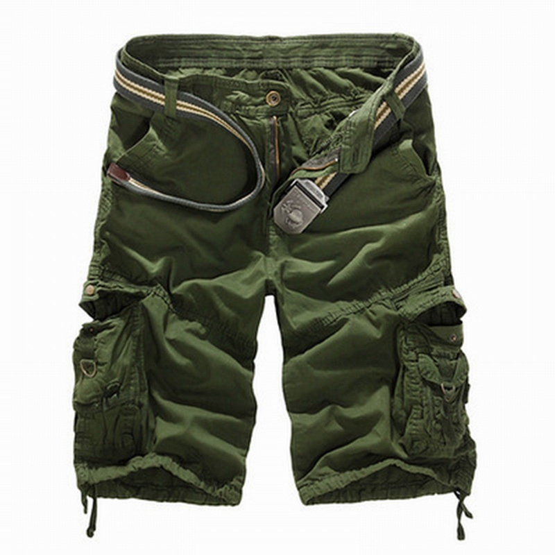 Dihope Camouflage Camo Cargo Shorts Men 2020 New Casual Shorts Male Loose Work Shorts Man Military Short Pants Plus Size No Belt