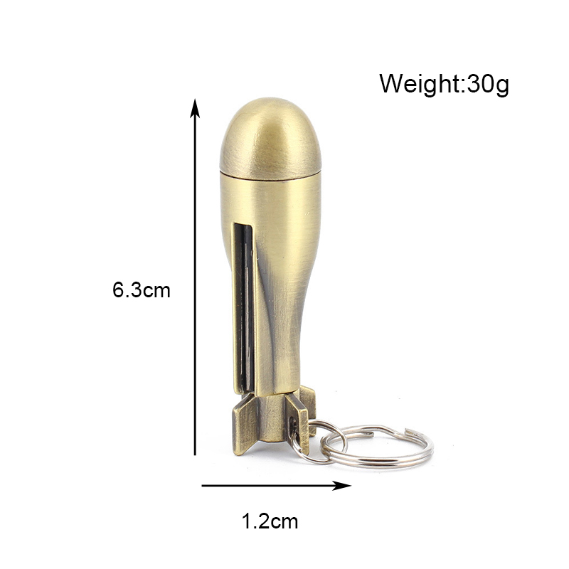 Metal Match outdoor Waterproof Lighter Keychain Flint survival Tool Fire starter