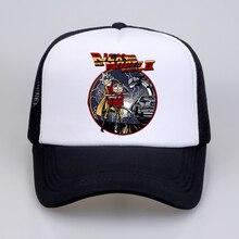 цена на Back To The Future trucker cap Men Rick and Morty hat Mens Dad hat Summer Mesh Baseball caps women Funny Anime snapback gorras