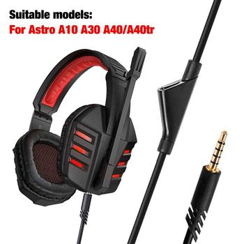 Audio Earphone Cable Volume Control Wear-resistant Gaming Headset Wire for Astro A10