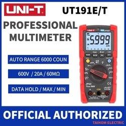 UNI-T Digital Multimeter True RMS Auto Range AC DC Voltage Current Capacitance Frequency Resistance Tester UT191E UT191T