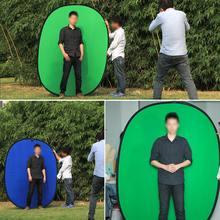 Fotografia refletor portátil chroma chave fundo de tela verde para youtube video studio 100x150cm 2 em 1