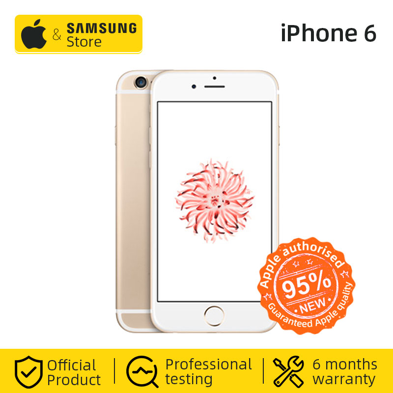 Unlocked Apple IPhone 6 Fingerprint 32/64GB ROM 4.7 Inch IOS Dual Core 1.4GHz 8.0 MP Camera 3G WCDMA 4G LTE Used Mobile Phone