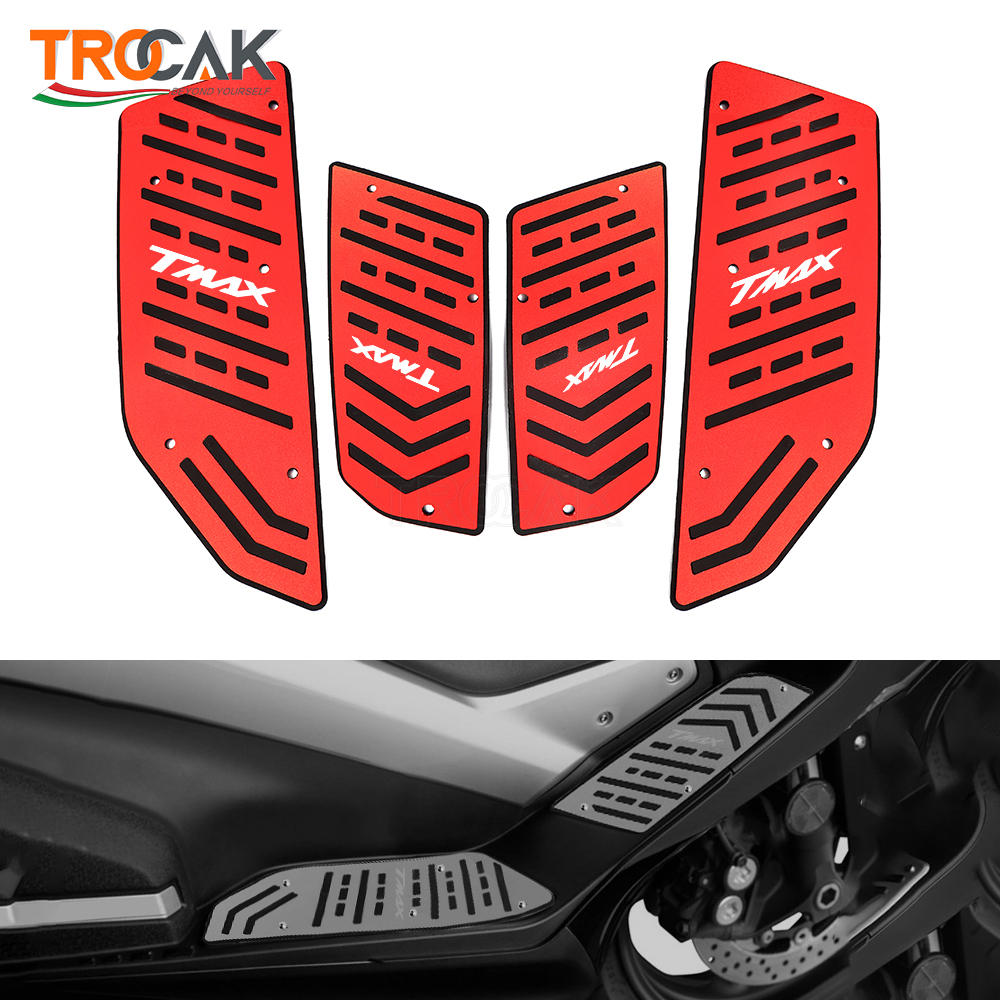 Motorcycle Footboard Steps Motorbike Foot For YAMAHA TMAX 560 tmax560 2020 TMAX530 SX/DX 2017-2019 2020 Footrest Pegs Plate Pads