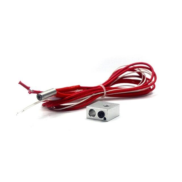 Imprimante 3D 12V 40W Tube chauffant + bloc chauffant MK8 + Kit thermistance NTC AS99