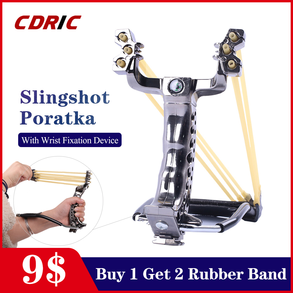 Powerful Slingshot Catapult Rubber Band Slingshot For Bow Hunting Slingshot Pocket Shot Fishing Slingshot Sling Shot Fish Arrows