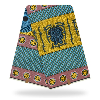 African Ankara Wax 100% Cotton Kitenge Dress Fabric /Pagnes/Tissues Africain/ Lapa/Chitenge Y-35