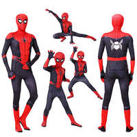 New Kids Adult SpiderMan costumes Far From Home Peter Parker Cosplay Costume Zentai Spider man Superhero Bodysuit Suit Jumpsuits