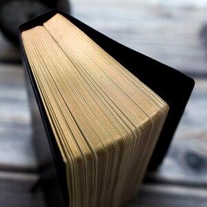Image 3 - レトロスーパー厚み208枚のブランクノートブックジャーナルリムゴールデンヴィンテージ聖書日記ジャーナルプランナーアジェンダメモ帳文房具